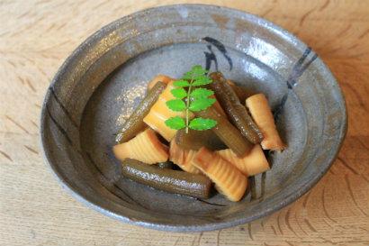 ふきと筍の煮物