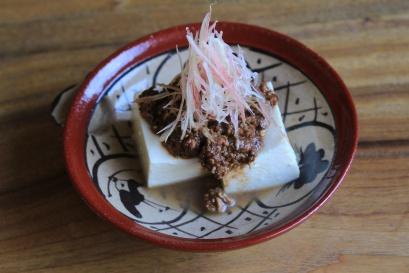 ごま味噌肉豆腐